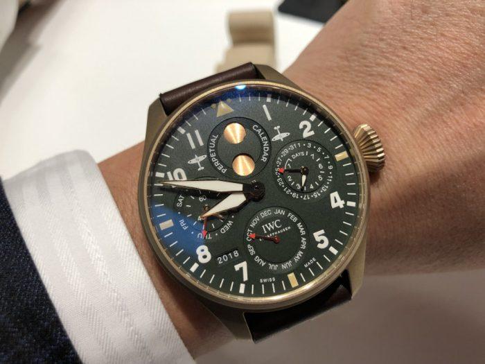 """IWCの新作モデルは自社製ムーブメントで高い技術と信頼性で魅せる。ビック・パイロットウォッチ・パーペチュアルカレンダー""""スピット・ファイア""""-IWC -IMG_5603-700x525"""