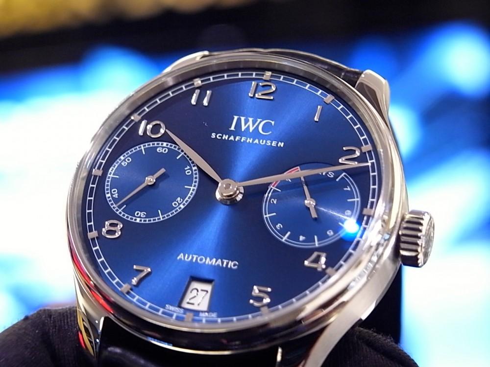 IWC 鮮やかなブルーが文字盤に映える「ポルトギーゼ・オートマチック」。-IWC -R1168892