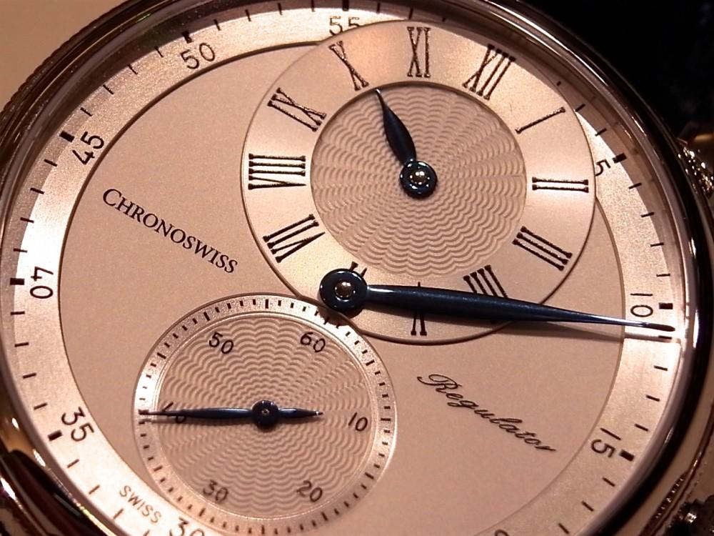 クロノスイス ブルースチールの針が美しい「シリウス レギュレーター クラシック」。-CHRONOSWISS -R1169382