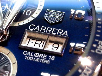 タグ・ホイヤー 立体的な文字盤が高級感を演出させる「カレラ  キャリバー16」。