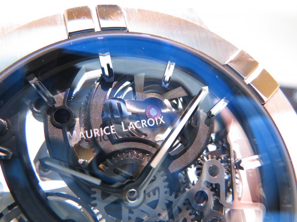 モーリス・ラクロア フェアも残すところあと6日!!期間限定でサンプル展示中の「アイコン オートマティック スケルトン」をご紹介!-MAURICE LACROIX -IMG_0456
