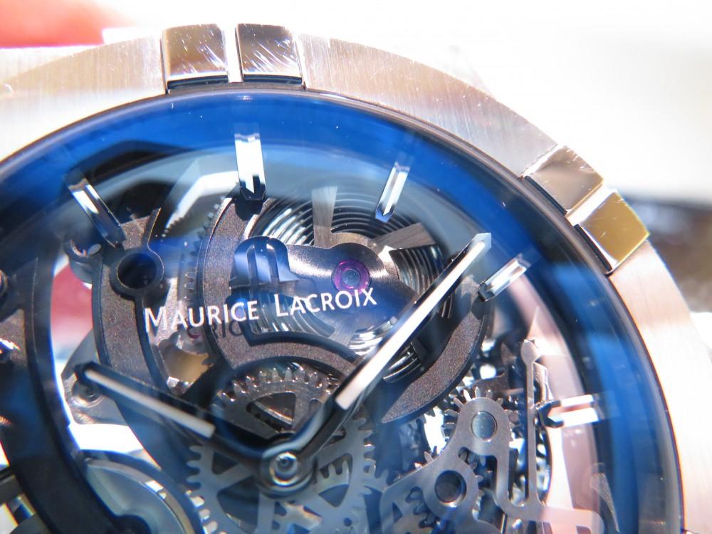 モーリス・ラクロア フェアも残すところあと6日!!期間限定でサンプル展示中の「アイコン オートマティック スケルトン」をご紹介!-MAURICE LACROIX -IMG_0457