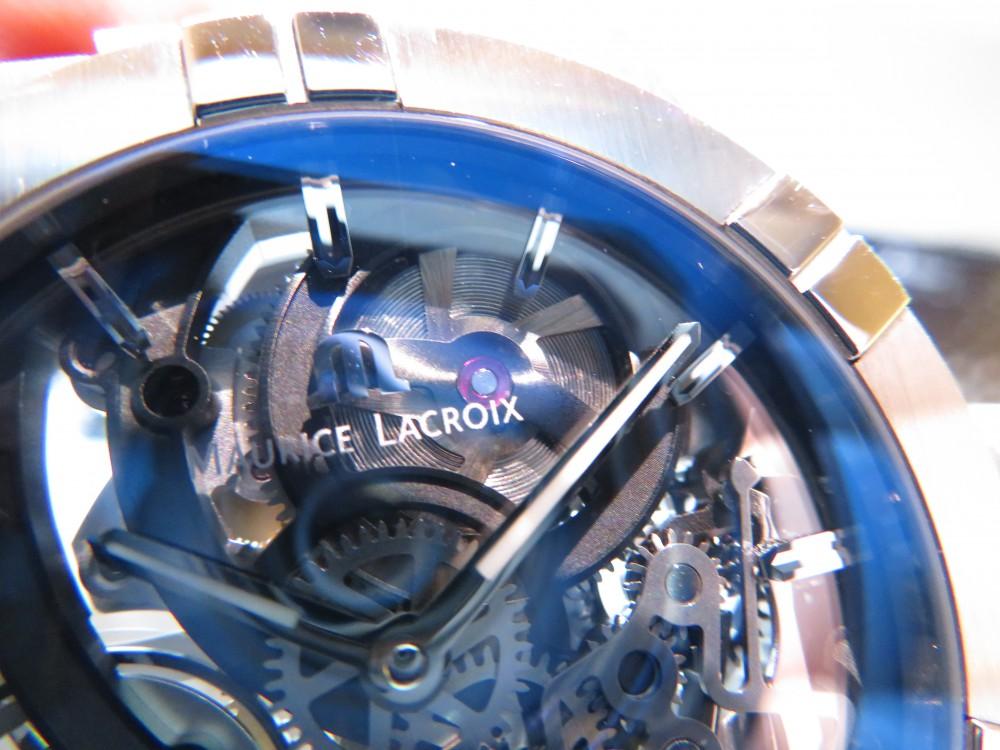 モーリス・ラクロア フェアも残すところあと6日!!期間限定でサンプル展示中の「アイコン オートマティック スケルトン」をご紹介!-MAURICE LACROIX -IMG_0458