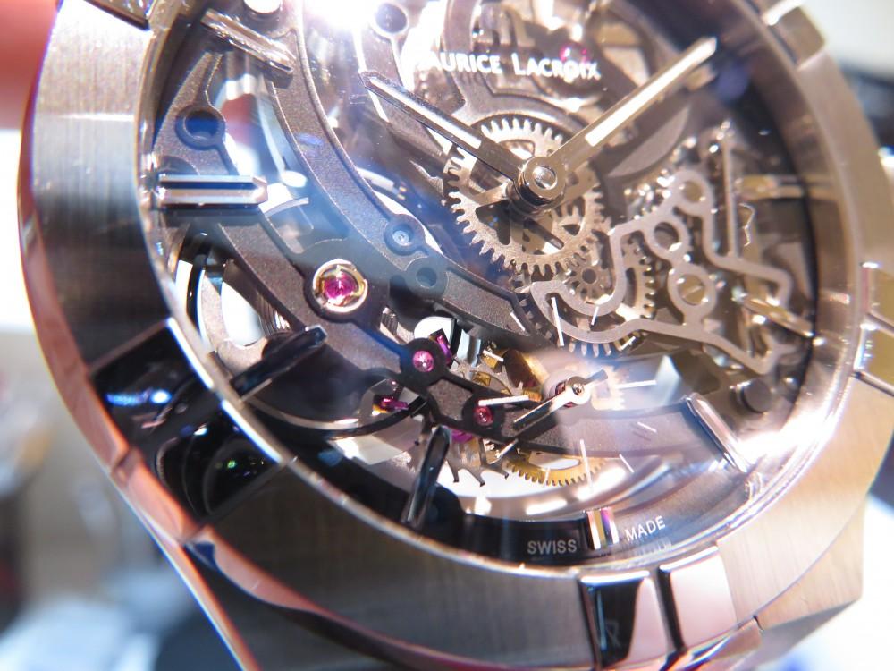 モーリス・ラクロア フェアも残すところあと6日!!期間限定でサンプル展示中の「アイコン オートマティック スケルトン」をご紹介!-MAURICE LACROIX -IMG_0463