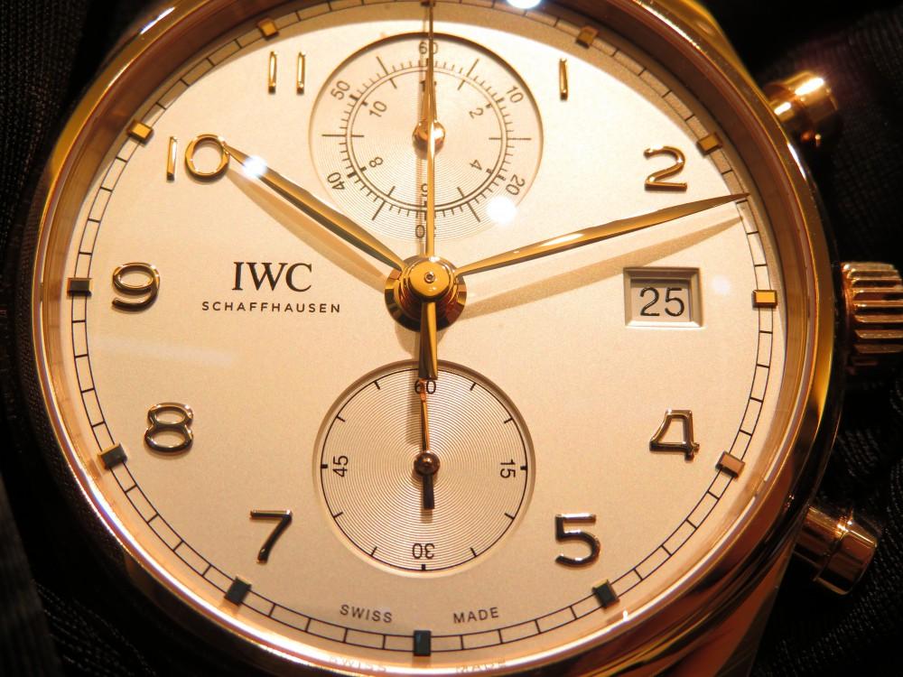 シンプルでありながら上品なポルトギーゼ・クロノグラフ・クラシック-IWC -IMG_1715