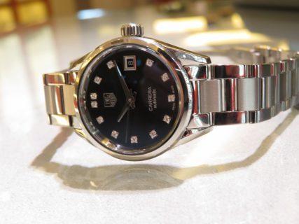 シンプルで上品な女性の為の機械式時計。タグホイヤーカレラレディ ダイヤモンド