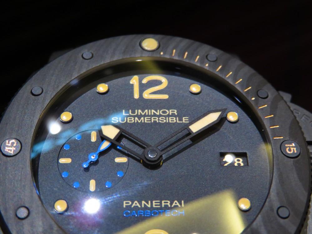 マットブラックで腕元に存在感を…PANERAIルミノール サブマーシブル 1950 カーボテック™ 3デイズ オートマティック-PANERAI -IMG_1163