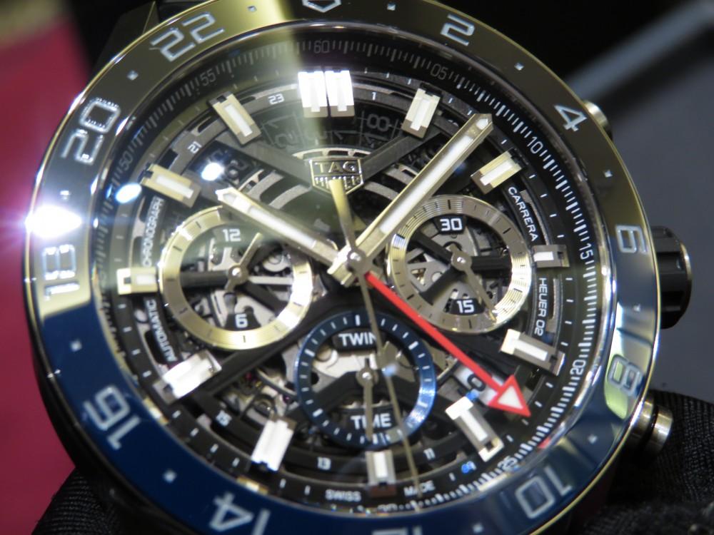 ブラックとブルーのツートンカラーベゼルがカッコイイ!タグ・ホイヤー カレラ キャリバー ホイヤー02 クロノグラフ GMT-TAG Heuer -IMG_1311