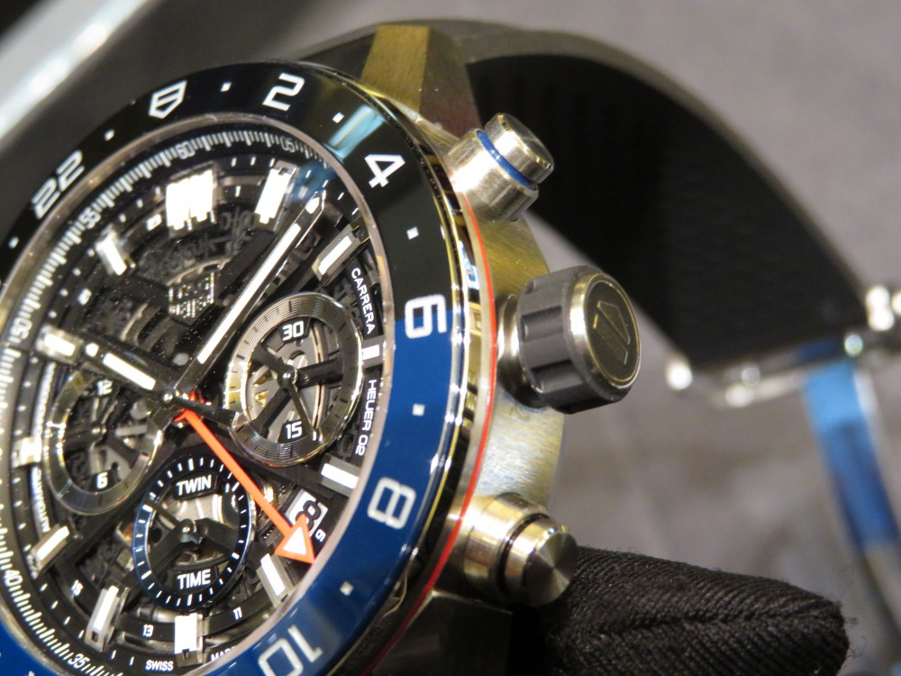 ブラックとブルーのツートンカラーベゼルがカッコイイ!タグ・ホイヤー カレラ キャリバー ホイヤー02 クロノグラフ GMT-TAG Heuer -IMG_1312