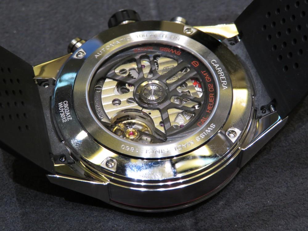 ブラックとブルーのツートンカラーベゼルがカッコイイ!タグ・ホイヤー カレラ キャリバー ホイヤー02 クロノグラフ GMT-TAG Heuer -IMG_1313