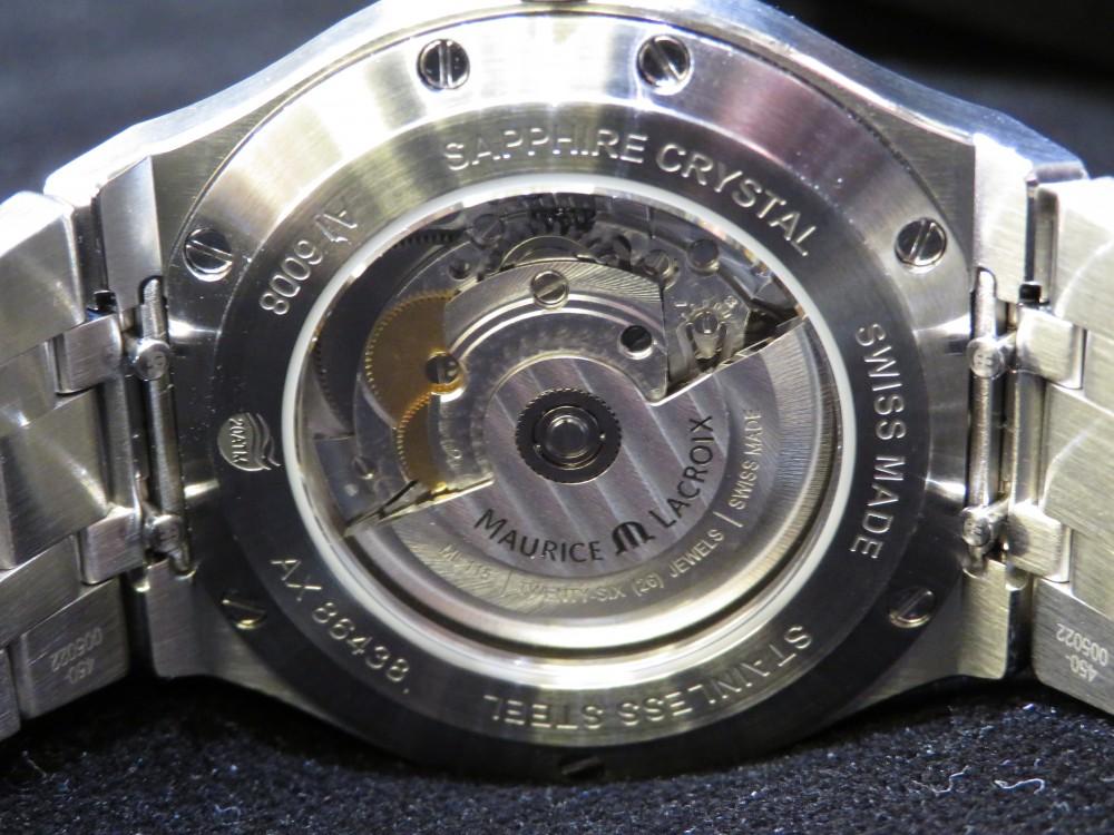 グレーの文字盤にゴールドの針で上品に。大人気のモーリスラクロア2019年新作アイコン オートマティック-MAURICE LACROIX -IMG_1382