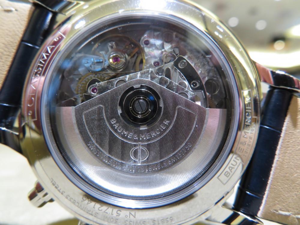 ボーム&メルシエ 250本限定の落ち着きあるブルーダイアルを備えた「クラシマ  オートマティック クロノグラフ」!!-BAUME&MERCIER -IMG_1491