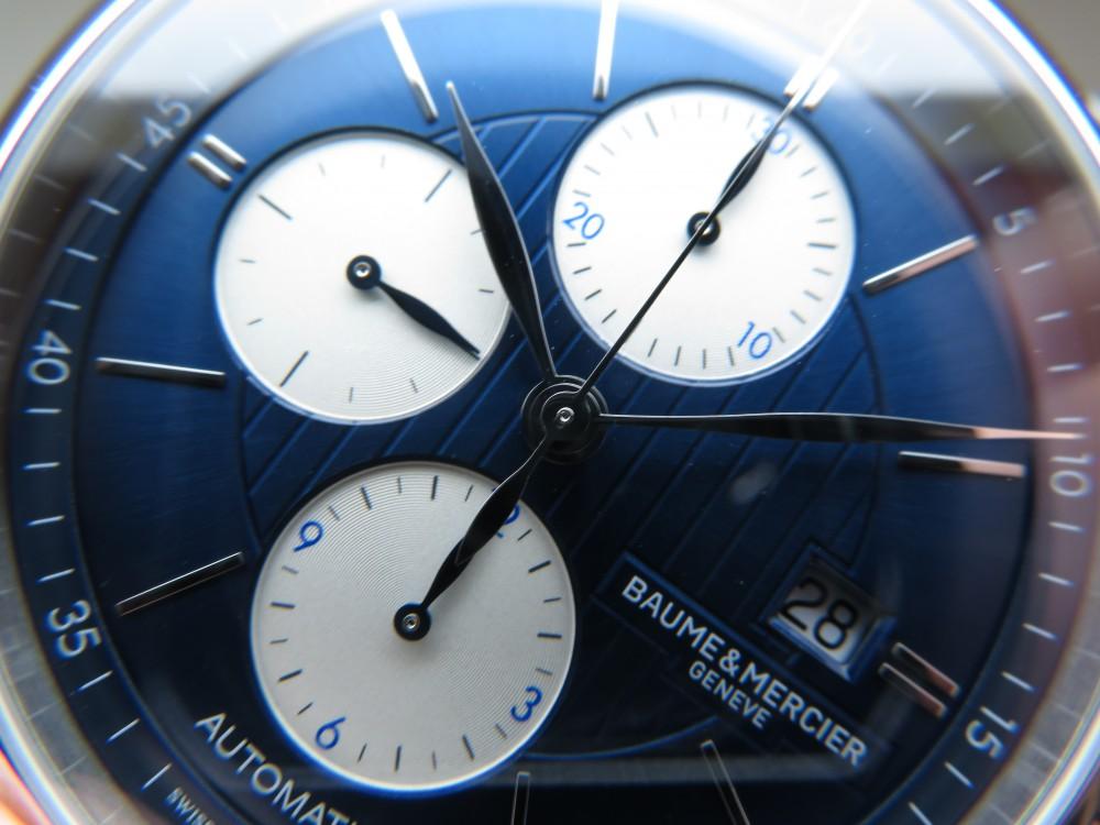 ボーム&メルシエ 250本限定の落ち着きあるブルーダイアルを備えた「クラシマ  オートマティック クロノグラフ」!!-BAUME&MERCIER -IMG_1519