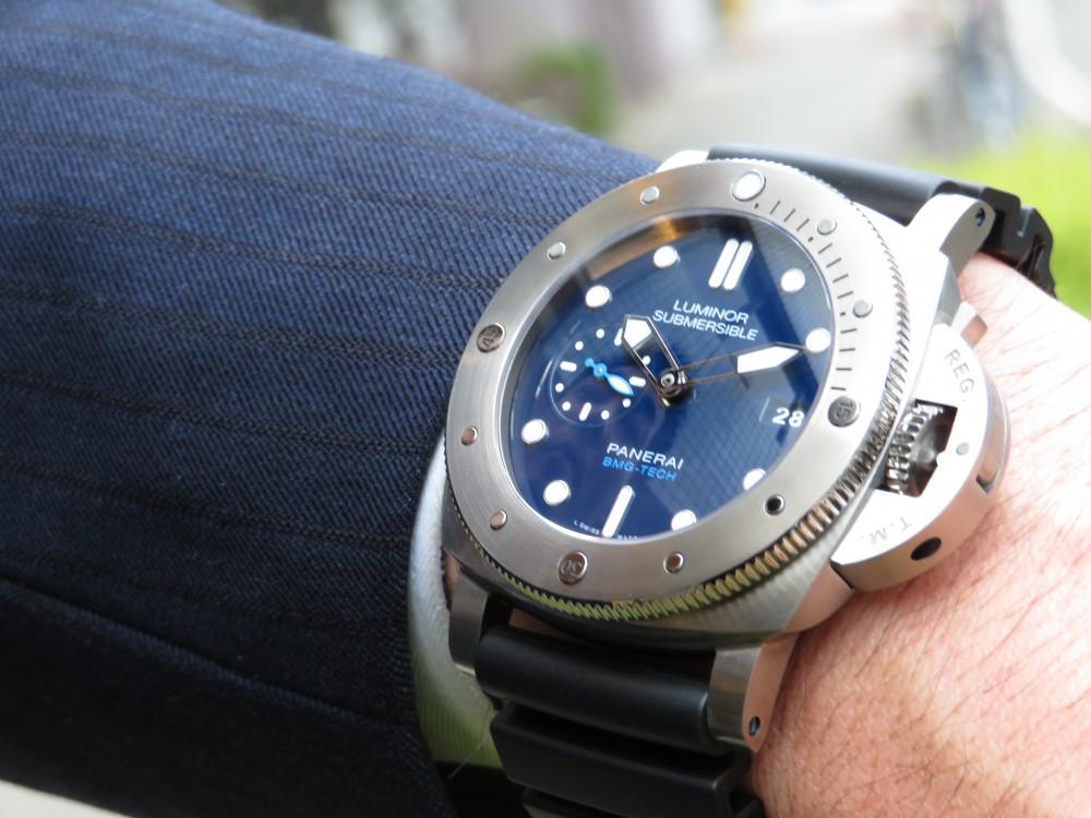 平成最後の時計にパネライが開発した新素材を採用したモデルはいかがですか?ルミノールサブマーシブル 1950 BMG-TECH™ 3デイズ オートマティック PAM00692-PANERAI -IMG_0282