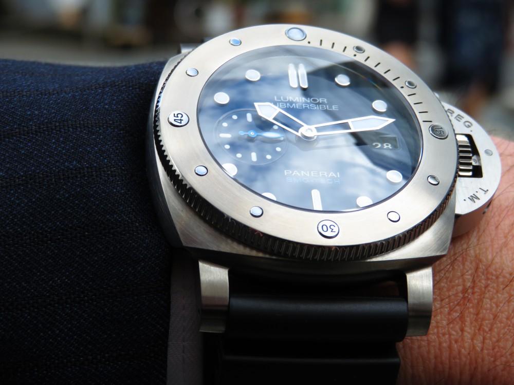 平成最後の時計にパネライが開発した新素材を採用したモデルはいかがですか?ルミノールサブマーシブル 1950 BMG-TECH™ 3デイズ オートマティック PAM00692-PANERAI -IMG_0287