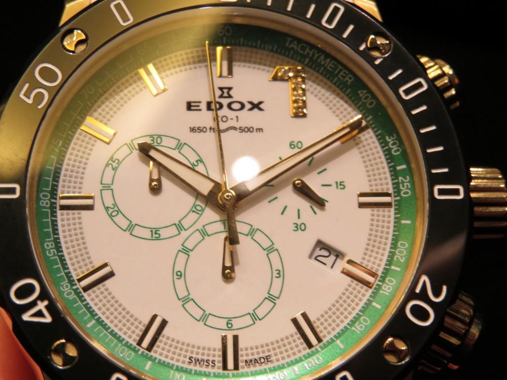 インデックスにダイヤモンドがセットされたスポーティーかつラグジュアリーなモデル!EDOX2019年新作 クロノオフショア1クロノグラフヴィアピーク シートゥスカイ リミテッドエディション-EDOX -IMG_1694