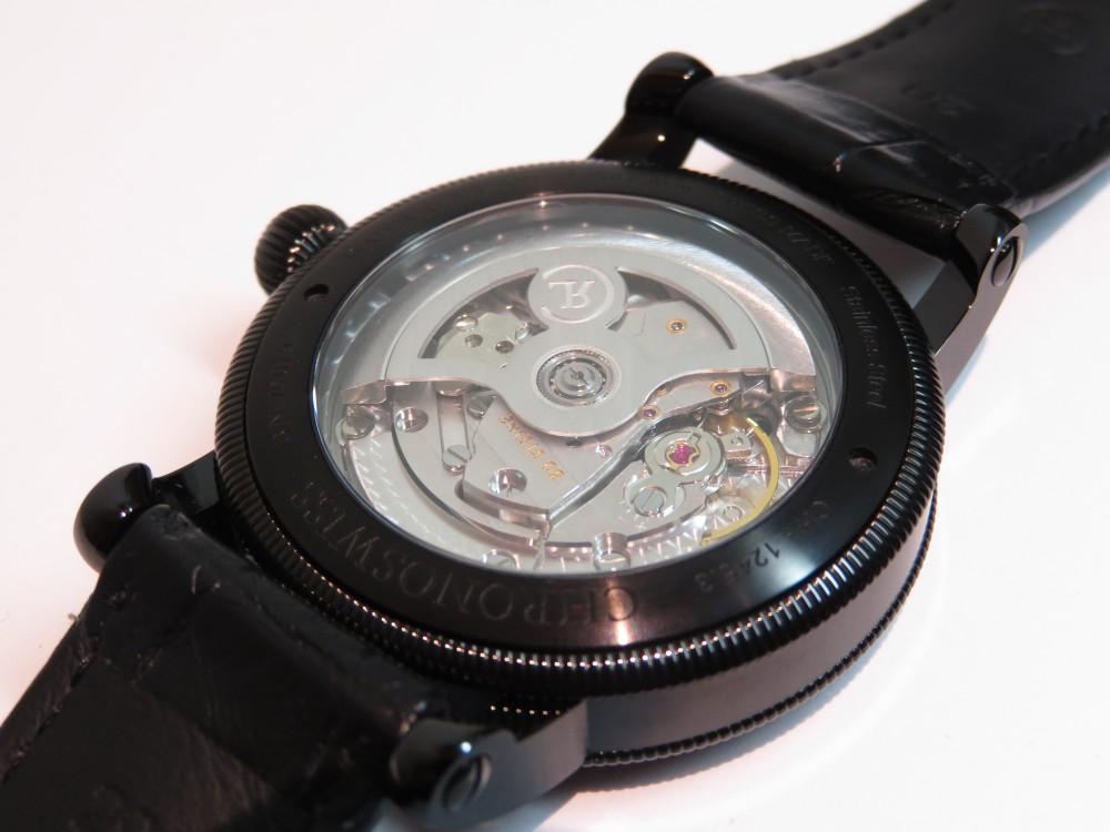 オシャレな人の腕元にはオールブラックの腕時計! クロノスイス「シリウス フライング・レギュレーター マニュファクチュール」CH-1245.3-BKBL-CHRONOSWISS -IMG_1924