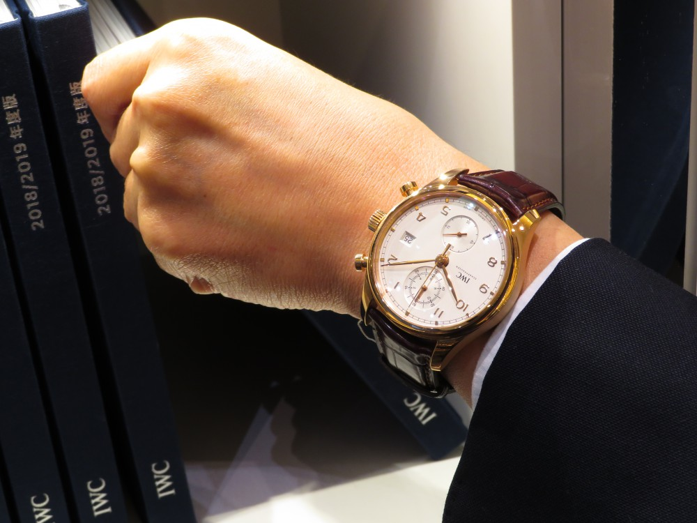 憧れの金無垢時計を腕にしてみませんか?IWC ポルトギーゼ・クロノグラフ・クラシック-IWC -IMG_1989