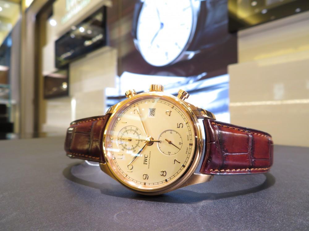 憧れの金無垢時計を腕にしてみませんか?IWC ポルトギーゼ・クロノグラフ・クラシック-IWC -IMG_2000