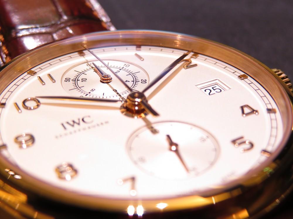 憧れの金無垢時計を腕にしてみませんか?IWC ポルトギーゼ・クロノグラフ・クラシック-IWC -IMG_2003