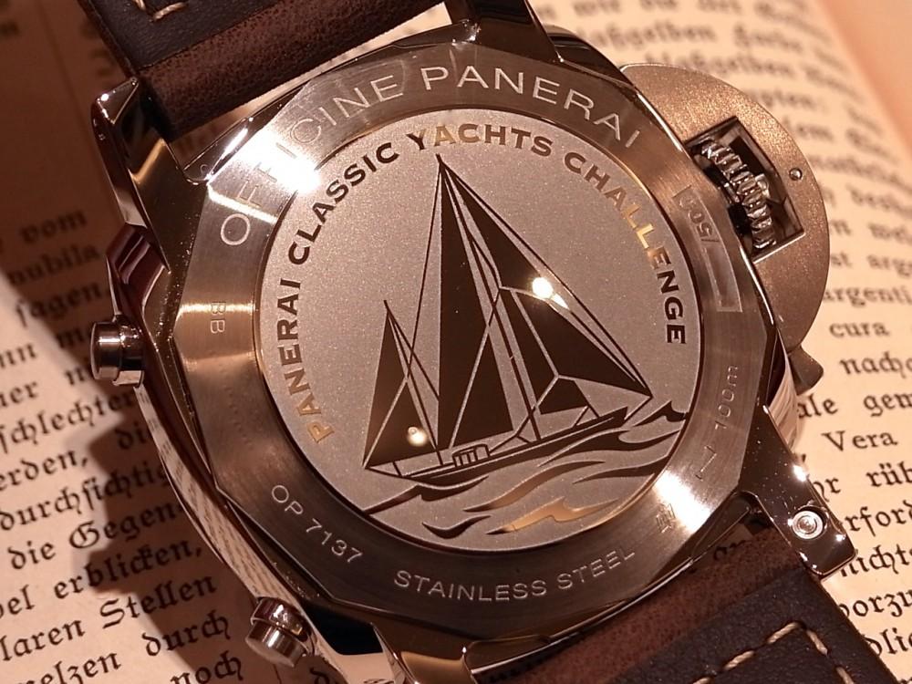 パネライ クラシックヨットの世界とのつながり「ルミノール 1950 PCYC 3デイズ クロノ フライバック オートマティック アッチャイオ PAM00653」-PANERAI -R1169852