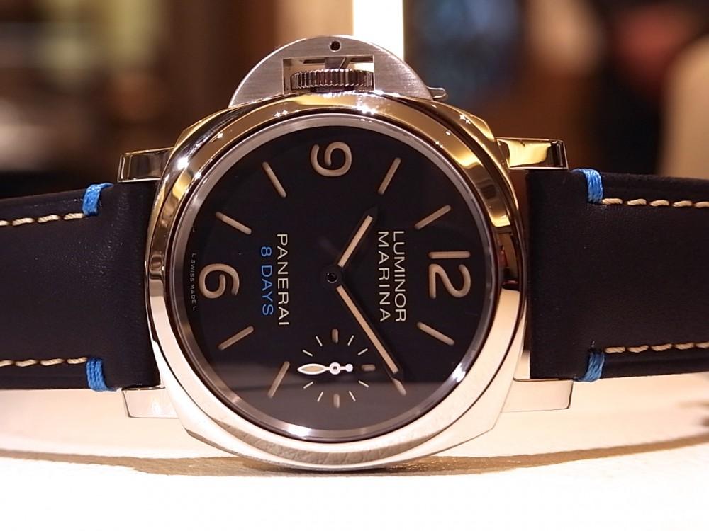 パネライ ブルーの差し色が効いた「ルミノール レフトハンド 8デイズ アッチャイオ」PAM00796-PANERAI -R1170274