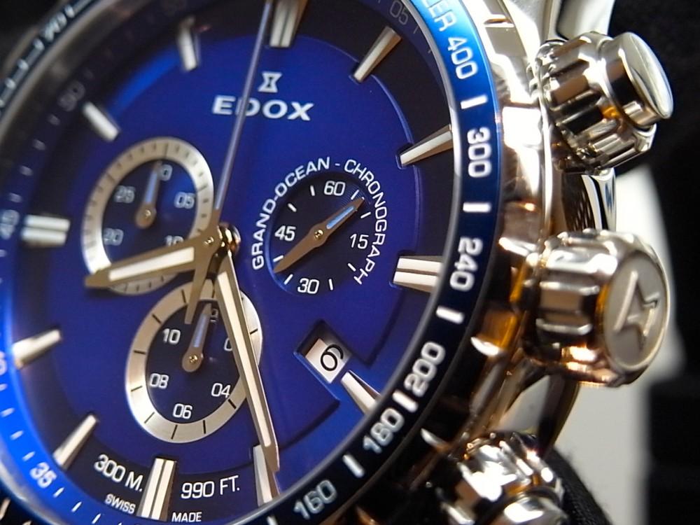 エドックス キャンペーン開催中!爽やかなブルーが好印象の「グランドオーシャン クロノグラフ」-EDOX -R1170289