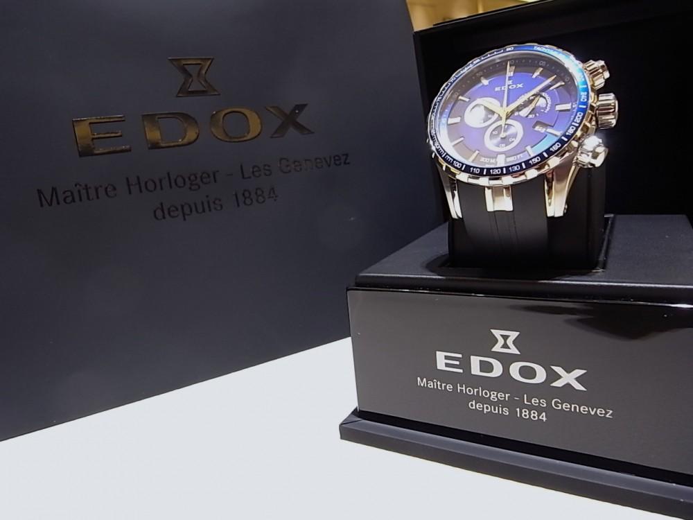 エドックス キャンペーン開催中!爽やかなブルーが好印象の「グランドオーシャン クロノグラフ」-EDOX -R1170302
