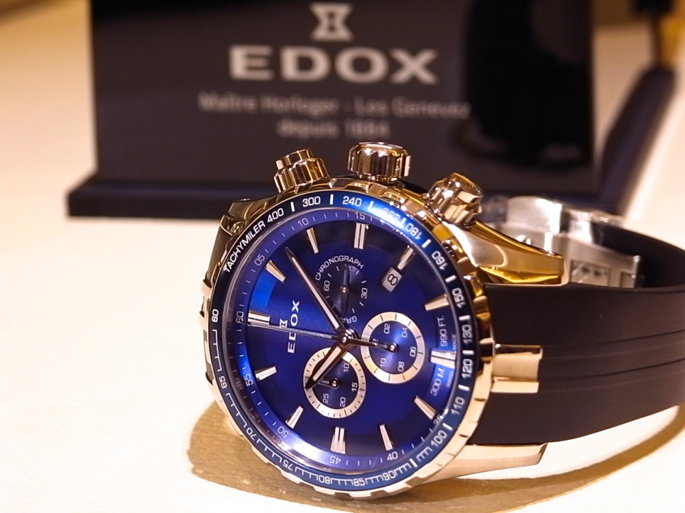 エドックス キャンペーン開催中!爽やかなブルーが好印象の「グランドオーシャン クロノグラフ」-EDOX -R1170306