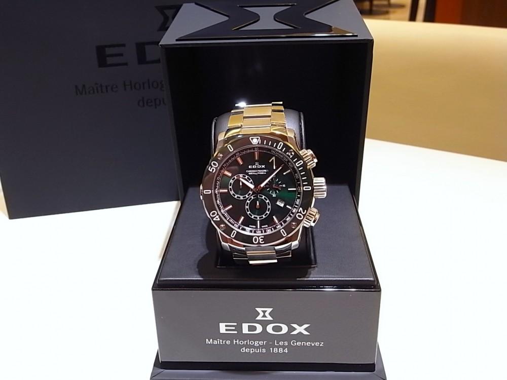 1884年創業の歴史のあるブランド「エドックス」から、美しいグリーンのカラーが新鮮!「クロノオフショア1 クロノグラフ スペシャルエディション」-EDOX -R1170308