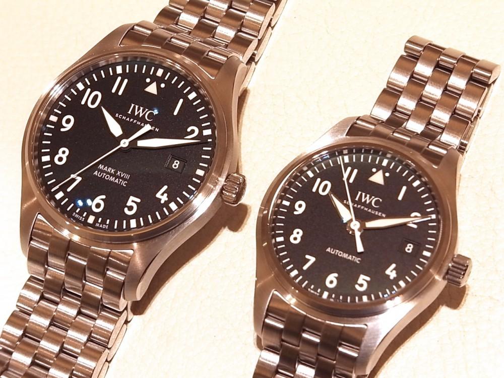 IWC 2つのケースサイズのパイロットウォッチの比較。-IWC -R1170572