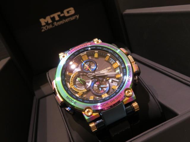鮮やかなレインボーが一際目を惹く!MT-G生誕20周年モデル! G-SHOCK「MT-G 20th Anniversary Limited Edition」MTG-B1000RB-2AJR-G-SHOCK -IMG_0935