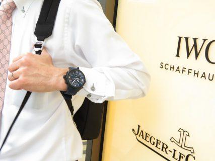 """IWCから2019年SIHH発表モデル入荷!ラバー加工のケースとブルー文字盤の色合いアクアタイマー・クロノグラフ """"ローレウス・スポーツ・フォー・グッド"""" IW379507"""