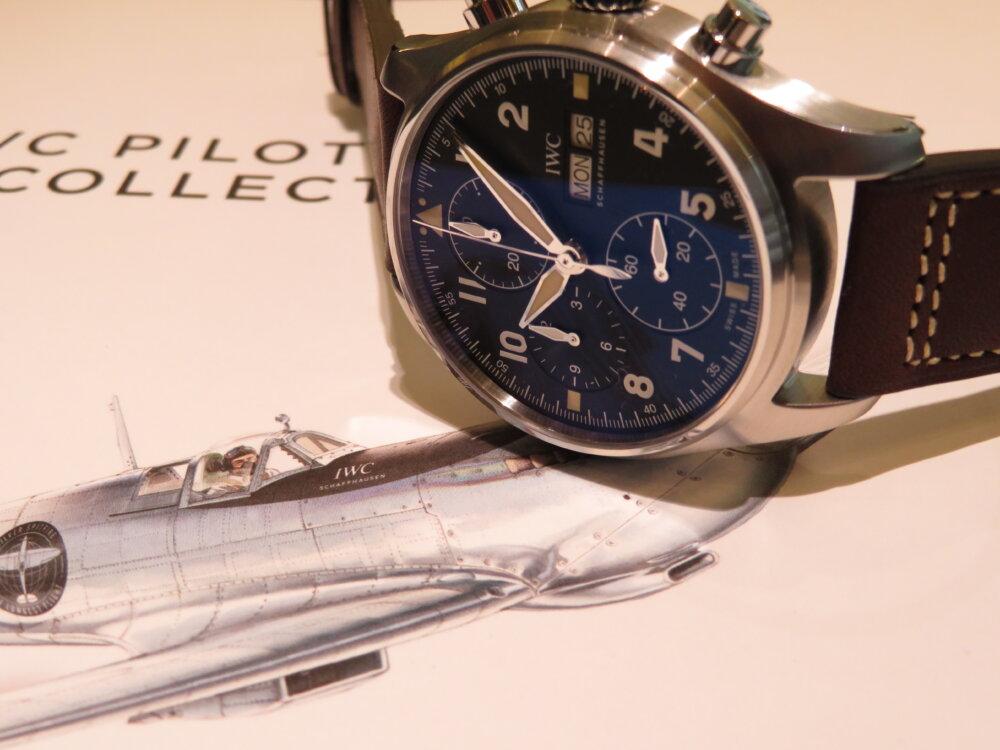 最も洗練された戦闘機スピットファイアシリーズから自社製ムーブメントを搭載したモデル IWC 「パイロット・ウォッチ・クロノグラフ・スピットファイア」IW387903-IWC -IMG_1327