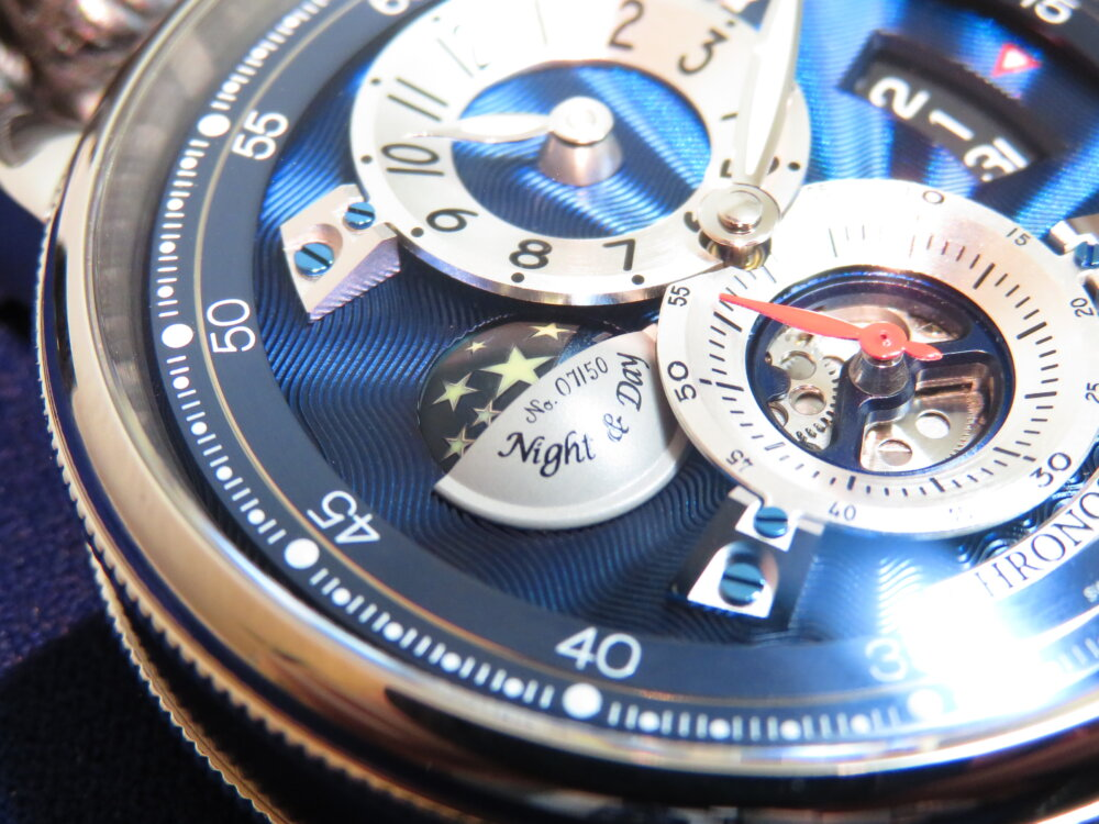 波模様のギョーシェが美しい!世界限定50本モデル! クロノスイス「フライング・レギュレーター ナイト アンド デイ アニバーサリーエディション」CH-8763-BLSI-CHRONOSWISS -IMG_1373