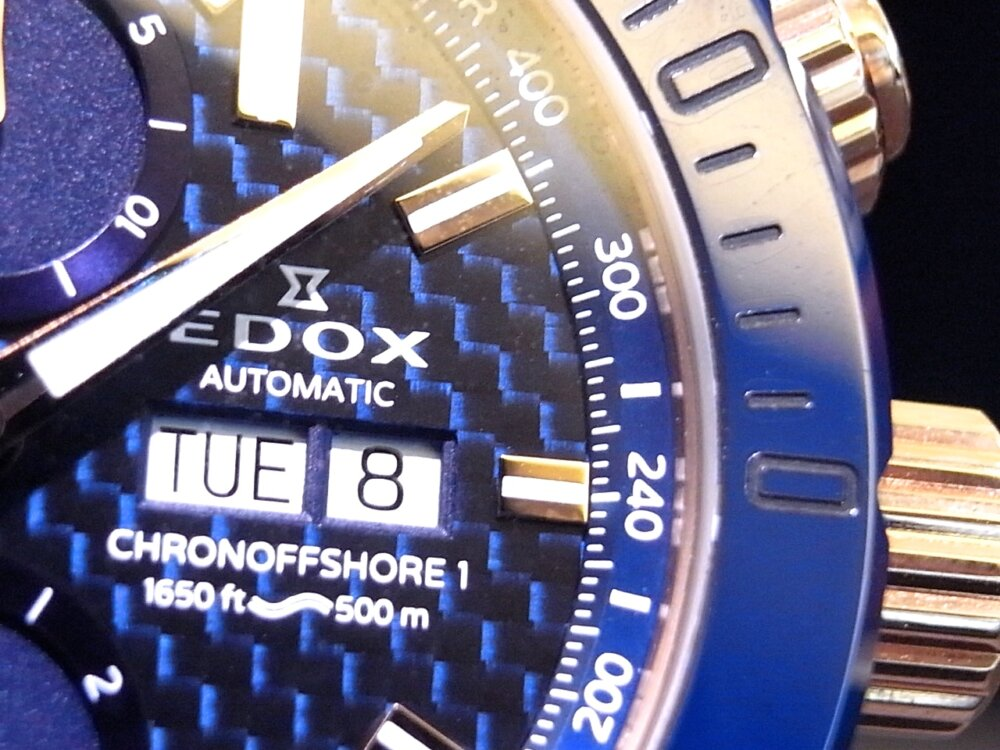 ブルーとゴールドが大人の雰囲気🎵 エドックス「クロノオフショア1」-EDOX -R1171181