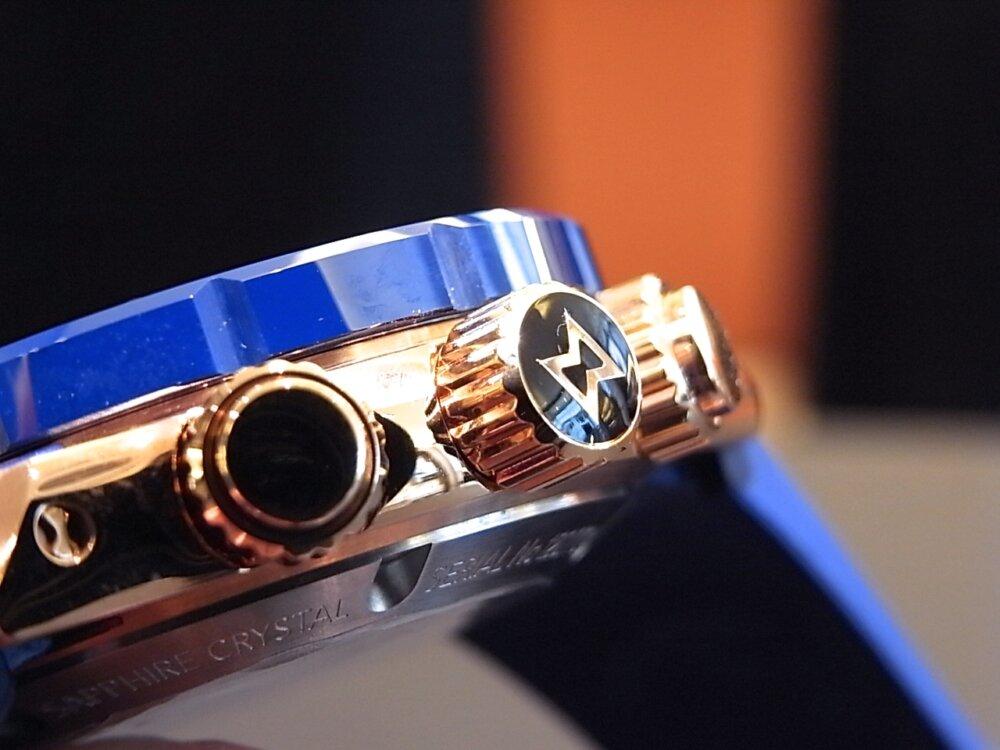 ブルーとゴールドが大人の雰囲気🎵 エドックス「クロノオフショア1」-EDOX -R1171182