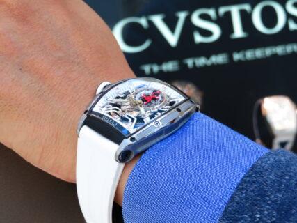 夏はホワイトラバーが爽やかで大活躍! CVSTOS(クストス) チャレンジ ジェットライナー プティセコンド オートマティック