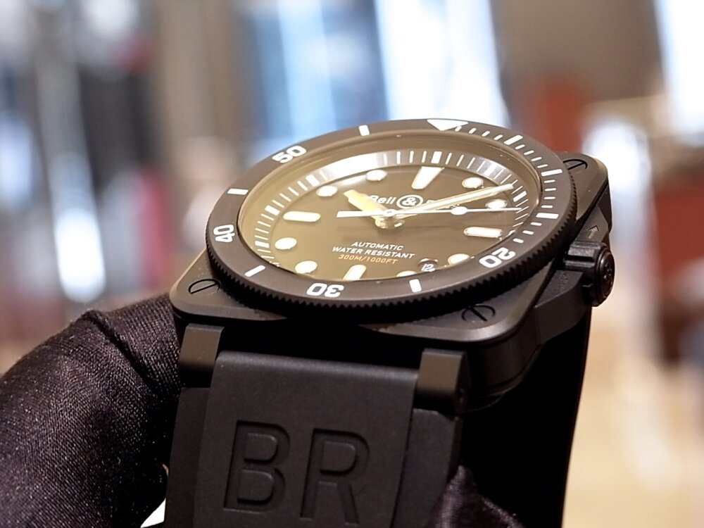 ベル&ロス 2019年新作モデル ブラックセラミックがカッコいい!「BR 03-92 ダイバー ブラック マット」-Bell&Ross その他 -R1171460