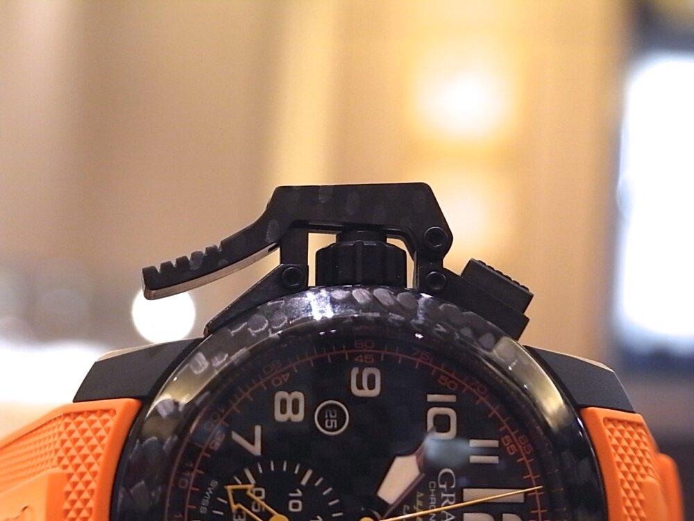 男の個性派ウォッチ(時計)! グラハム「クロノファイター スーパーライト カーボン」-GRAHAM -R1171586
