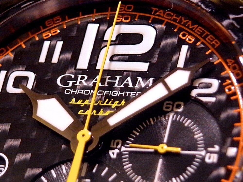 男の個性派ウォッチ(時計)! グラハム「クロノファイター スーパーライト カーボン」-GRAHAM -R1171587
