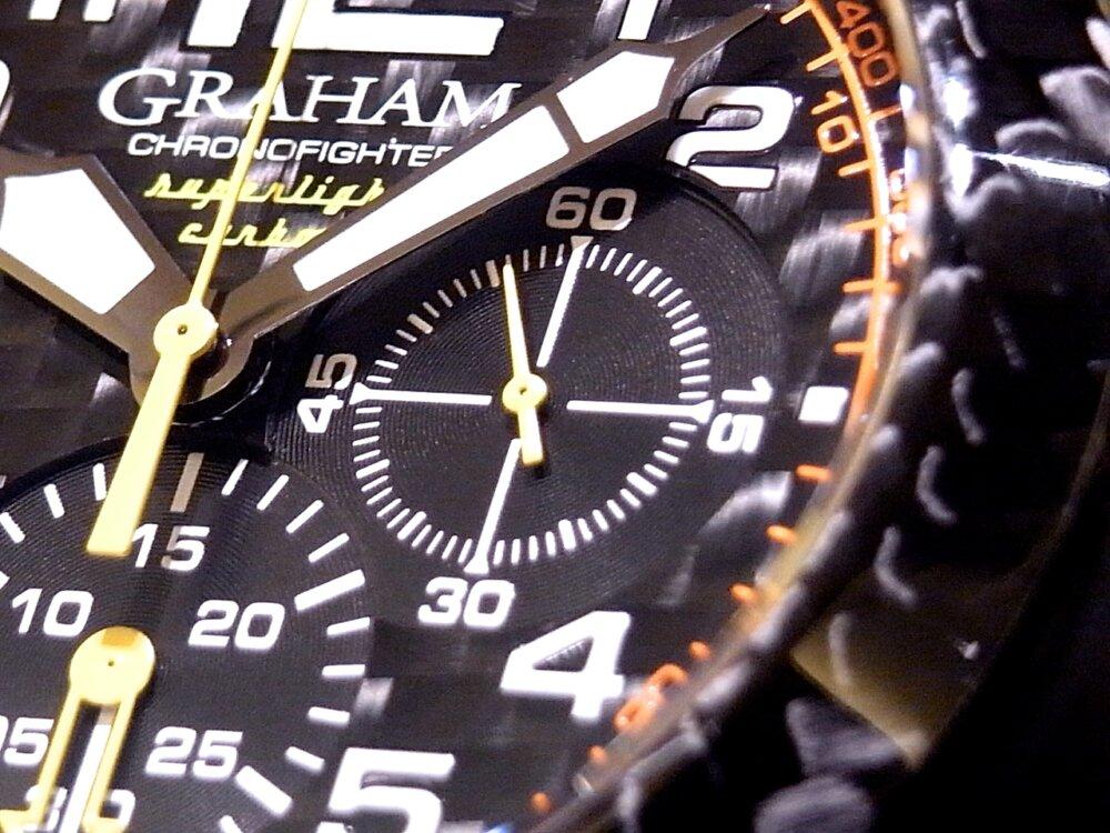 男の個性派ウォッチ(時計)! グラハム「クロノファイター スーパーライト カーボン」-GRAHAM -R1171589