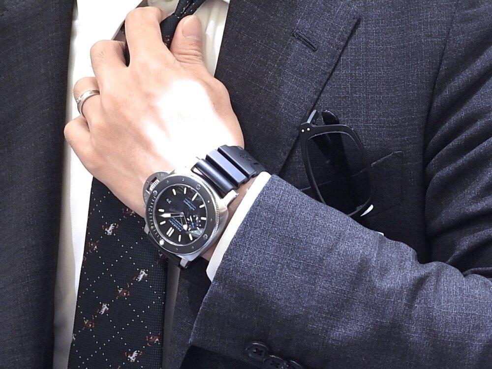 【パネライ】 アクティブなダイバーズ時計がオススメ「ルミノール サブマーシブル 1950 アマグネティック 3デイズ オートマティック チタニオ」 PAM01389-PANERAI -R1171652