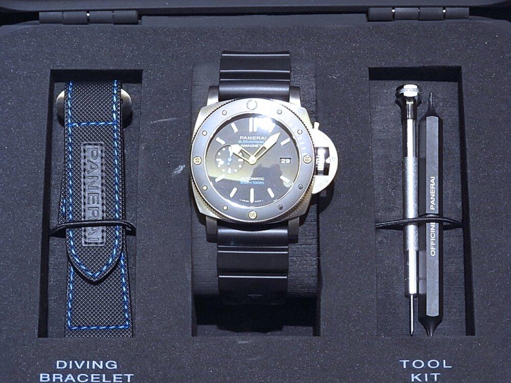 【パネライ】 アクティブなダイバーズ時計がオススメ「ルミノール サブマーシブル 1950 アマグネティック 3デイズ オートマティック チタニオ」 PAM01389-PANERAI -R1171654