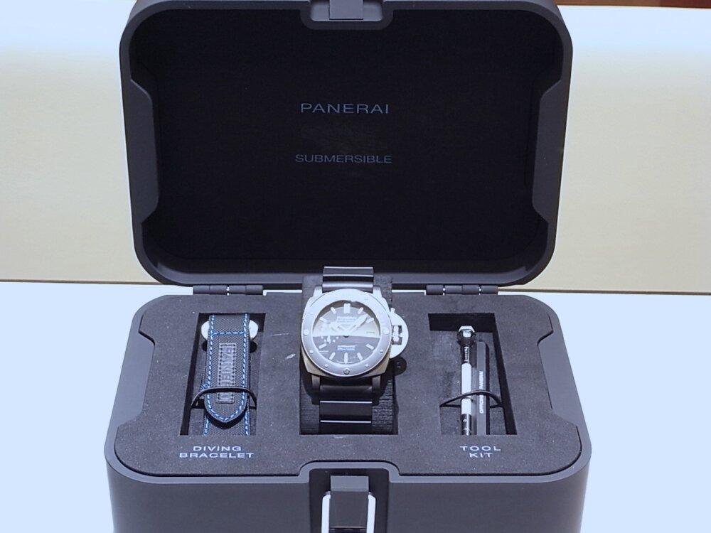 【パネライ】 アクティブなダイバーズ時計がオススメ「ルミノール サブマーシブル 1950 アマグネティック 3デイズ オートマティック チタニオ」 PAM01389-PANERAI -R1171655