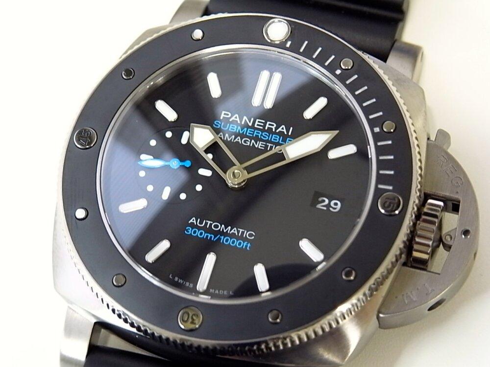 【パネライ】 アクティブなダイバーズ時計がオススメ「ルミノール サブマーシブル 1950 アマグネティック 3デイズ オートマティック チタニオ」 PAM01389-PANERAI -R1171664
