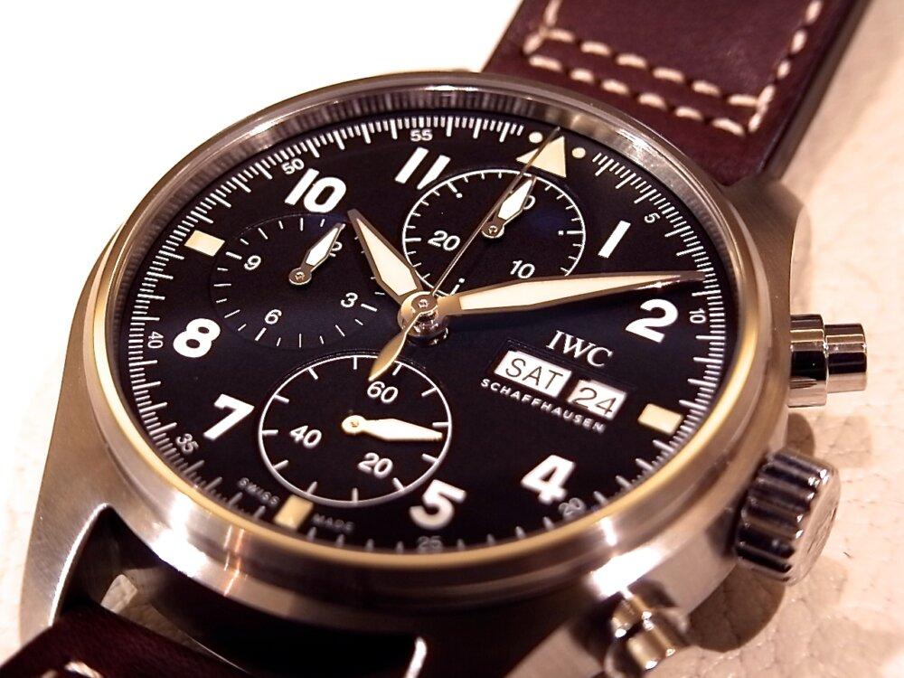 IWC 史上初の41mmにサイズダウンして小ぶりになった 新作「パイロット・ウォッチ・クロノグラフ・スピットファイア」-IWC -R1171690