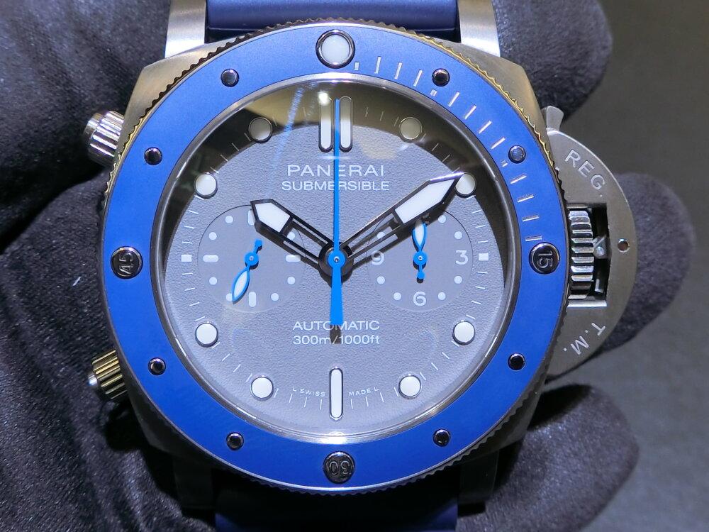 腕元に特別感を与えてくれる腕時計!サブマーシブル クロノ ギョームネリー エディション(PAM00982)~パネライ~-PANERAI -CIMG0388