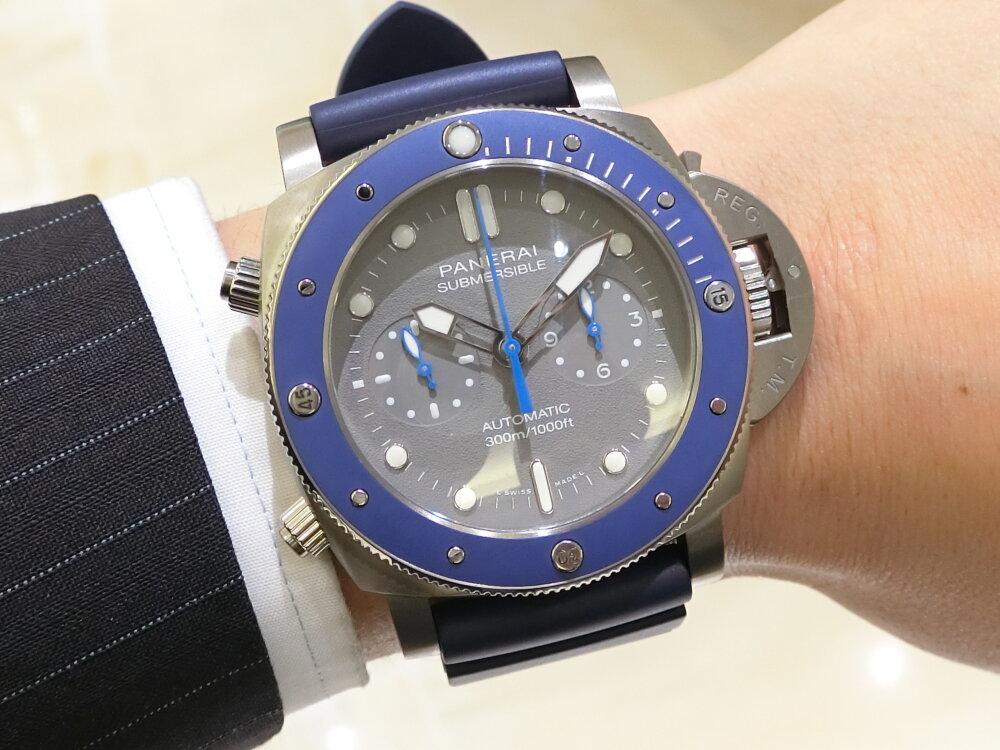 腕元に特別感を与えてくれる腕時計!サブマーシブル クロノ ギョームネリー エディション(PAM00982)~パネライ~-PANERAI -CIMG0400