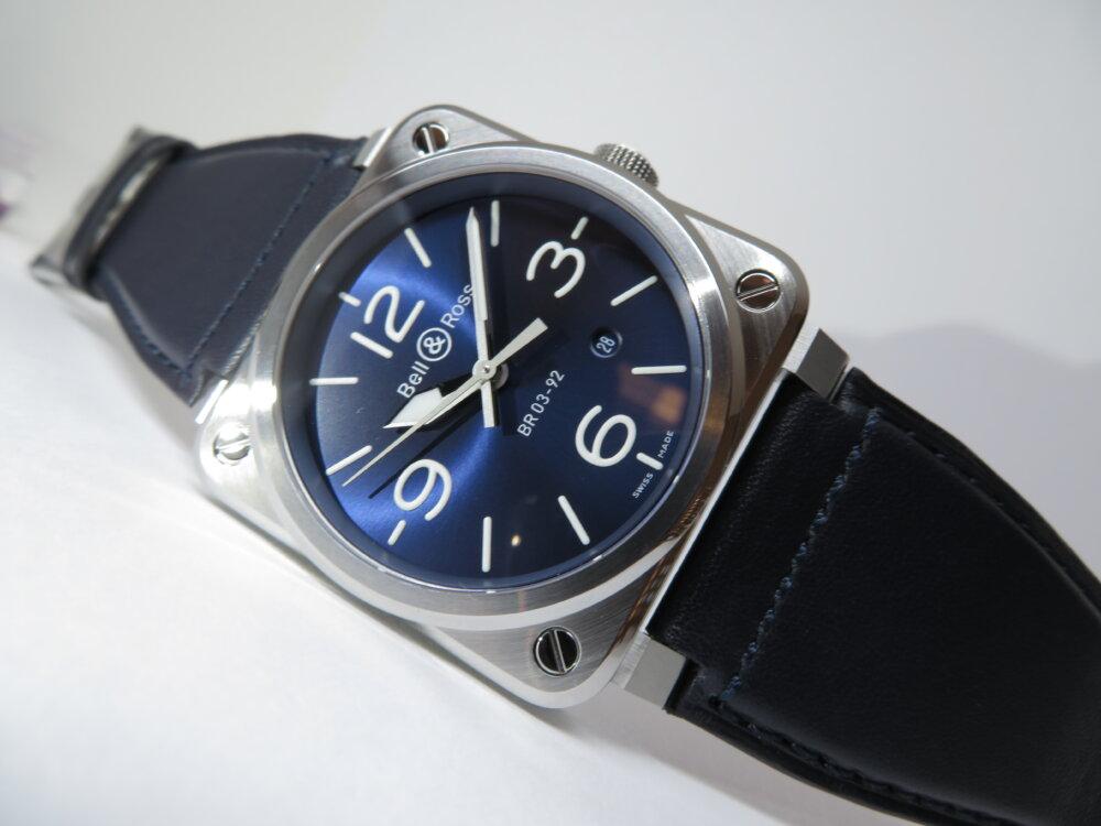 視認性、機能性を備え、デザイン性も優れた ベル&ロス「BR 03-92 BLUE STEEL」BR0392-BLU-ST/SCA-Bell&Ross -IMG_0304